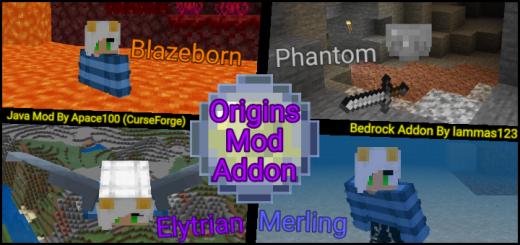 Origins Mod Bedrock Edition Addon (v1 1 9) Minecraft PE Mods